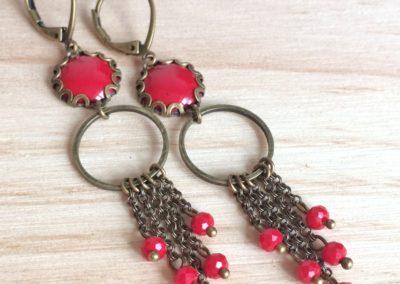 Boucles d'oreilles COCO Rouges